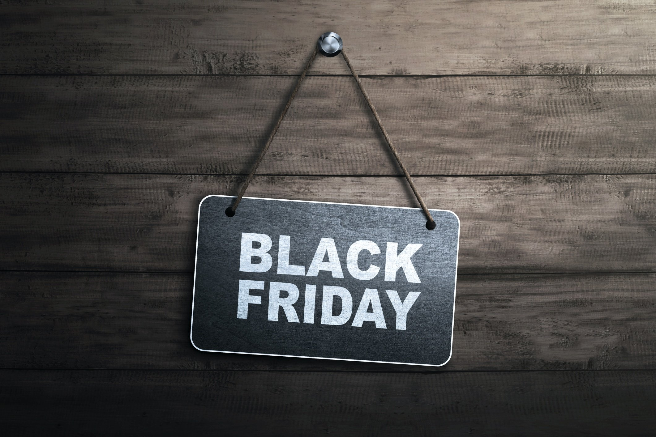 black friday sign on wood wall